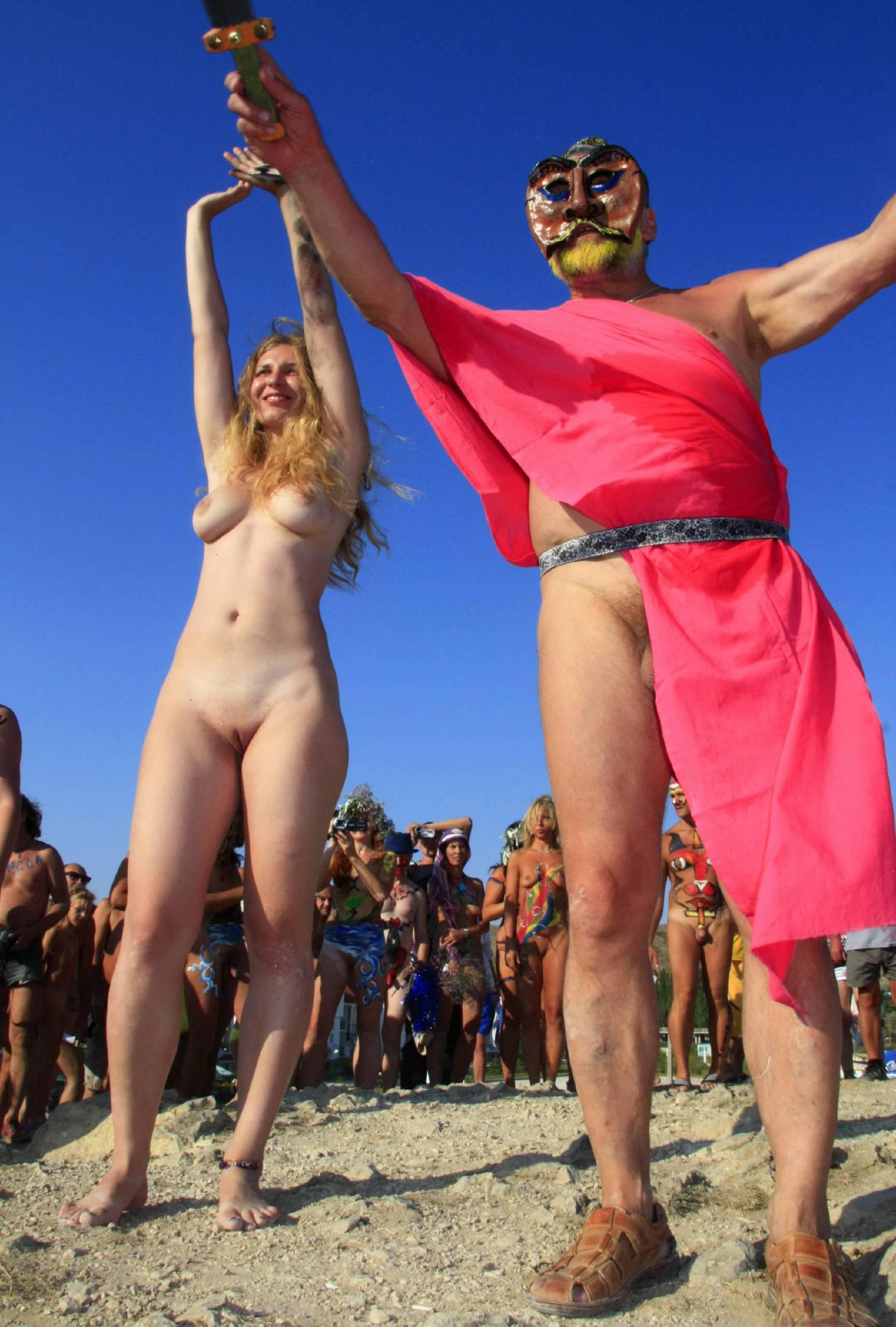 Pure Nudism Photos Blue Sky Group Line-Up - 1