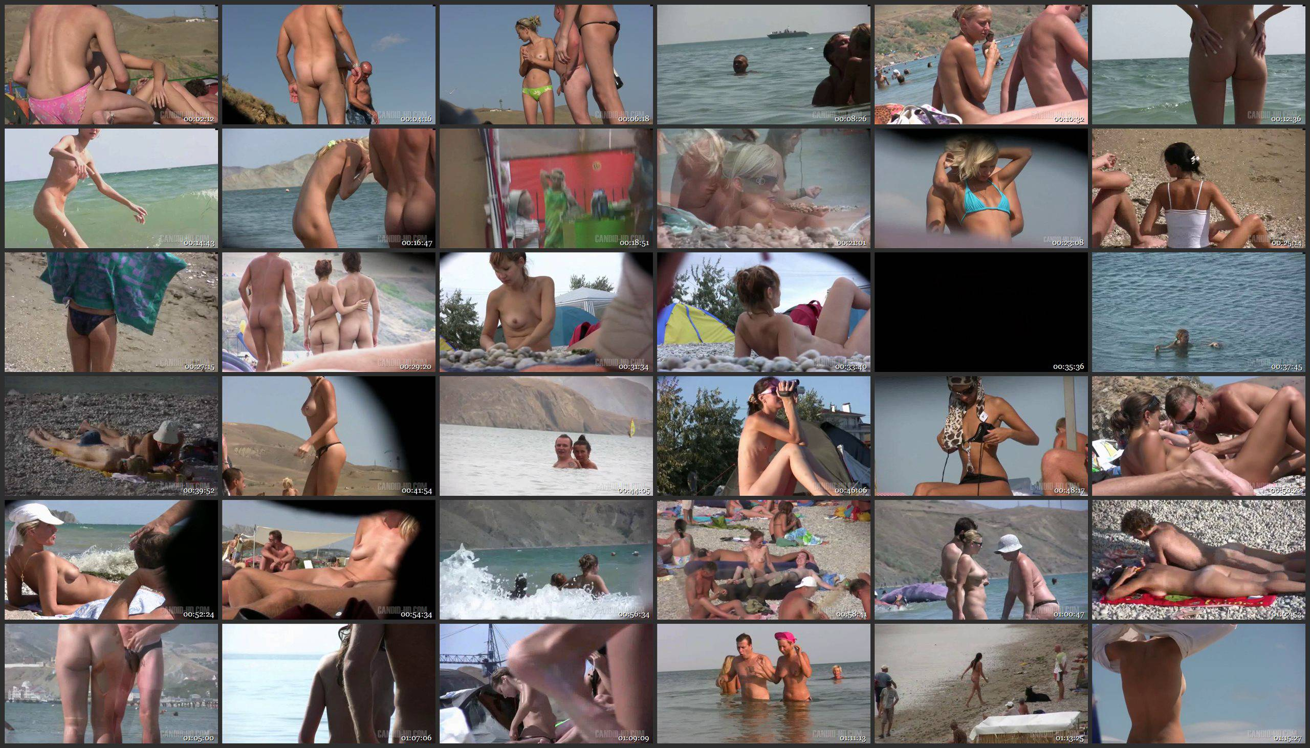 Candid-HD 3 Couples On The Beach - Thumbnails