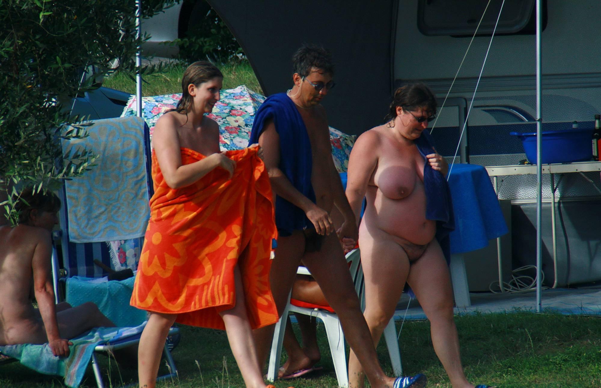 Colorful Towel Sun Drying - 2