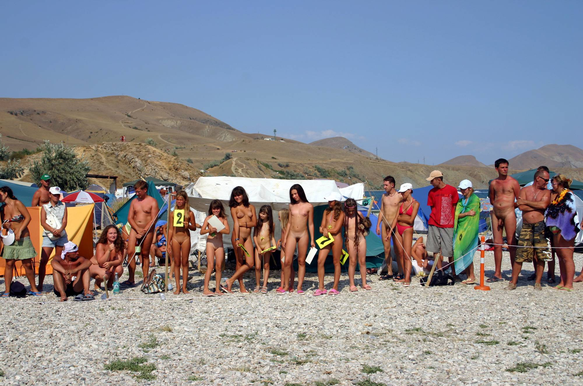 Pure Nudism Photos Contestant Cheerful Walk - 1