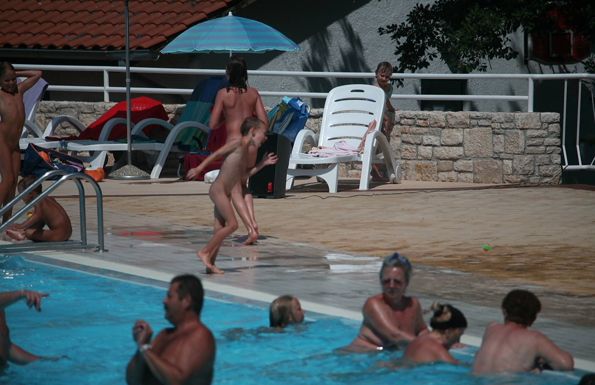 Pure Nudism Drag and Drop in the Pool - 1