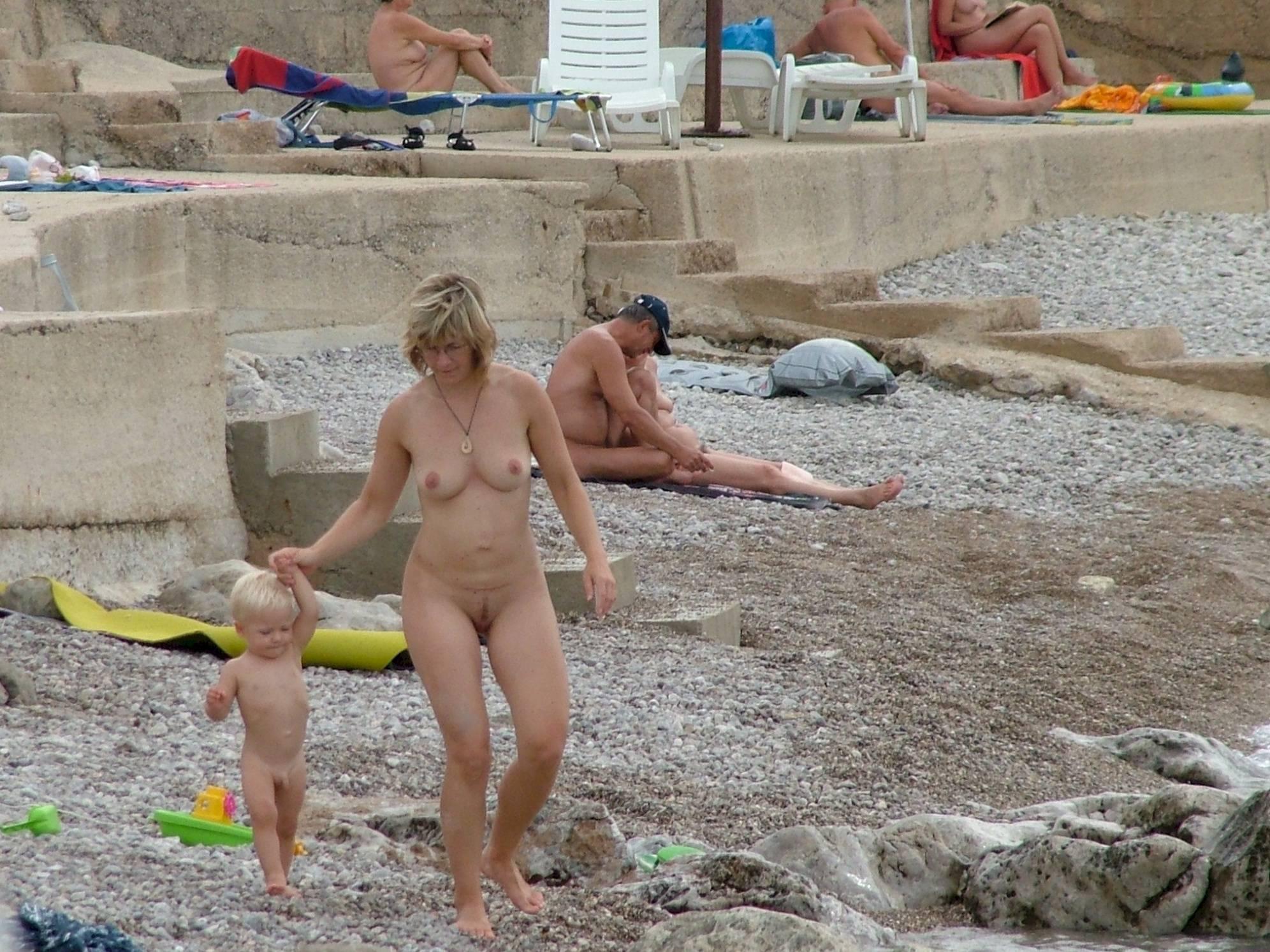 Pure Nudism Images FKK Europe Rock Shoreline - 1