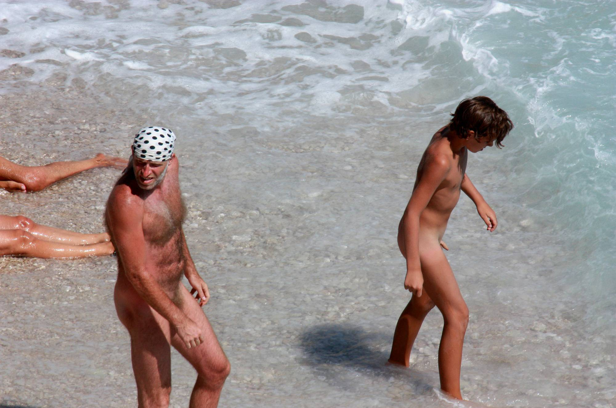 Pure Nudism Gallery Father-Son Water Conquer - 2