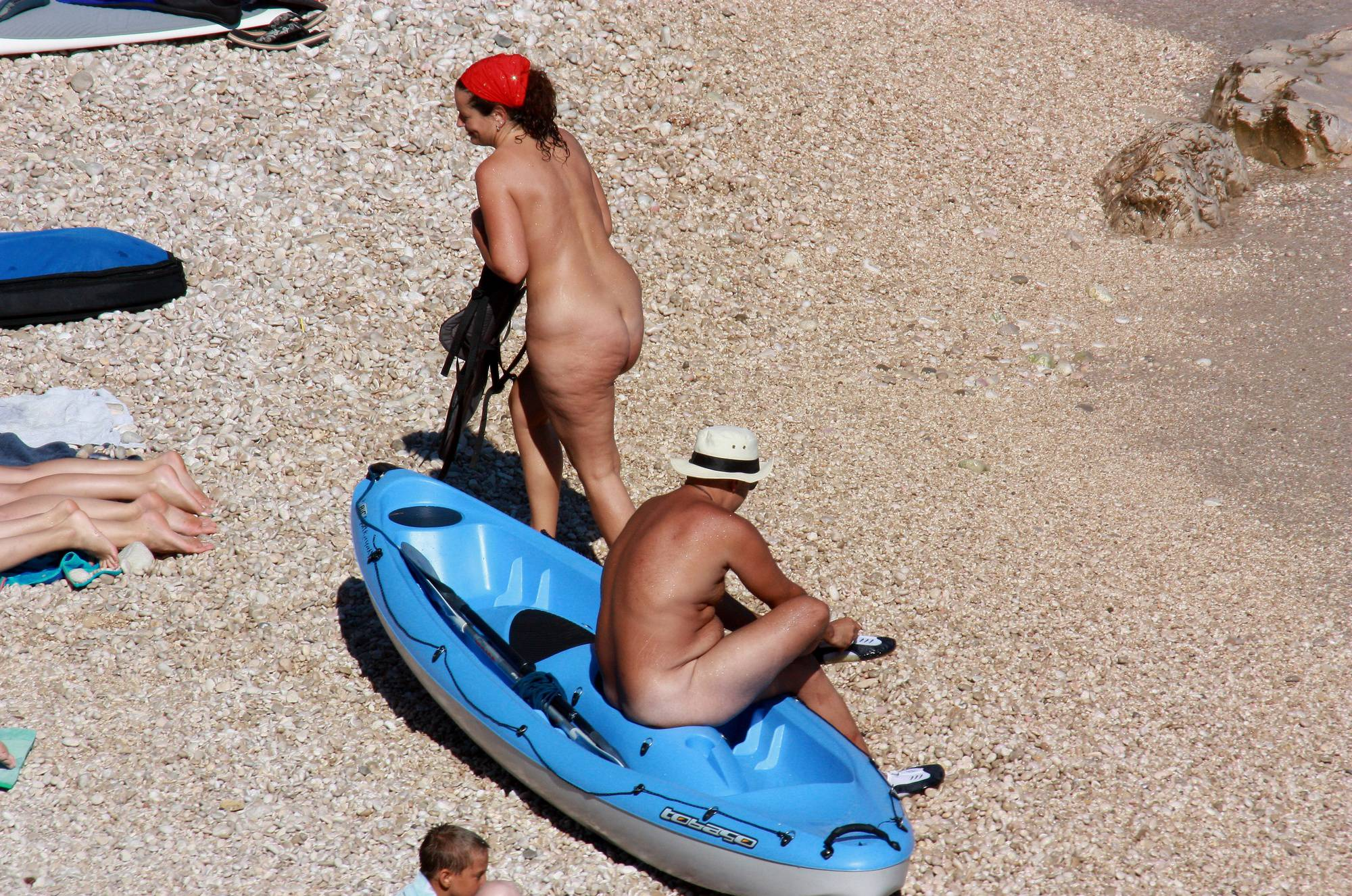 Pure Nudism Photos Get In Waters for Boating - 2