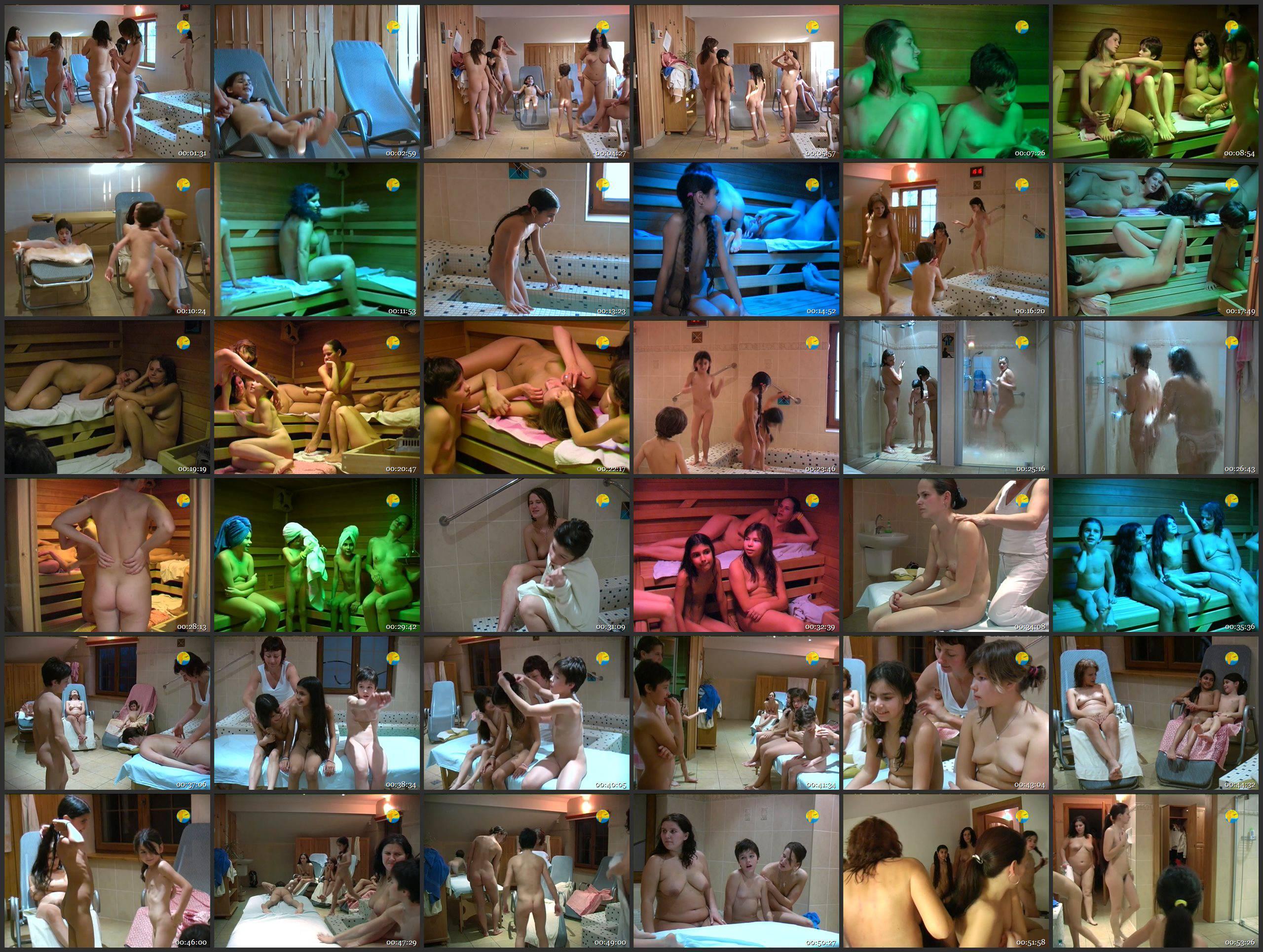 Naturist Freedom Girls in Sauna - Thumbnails