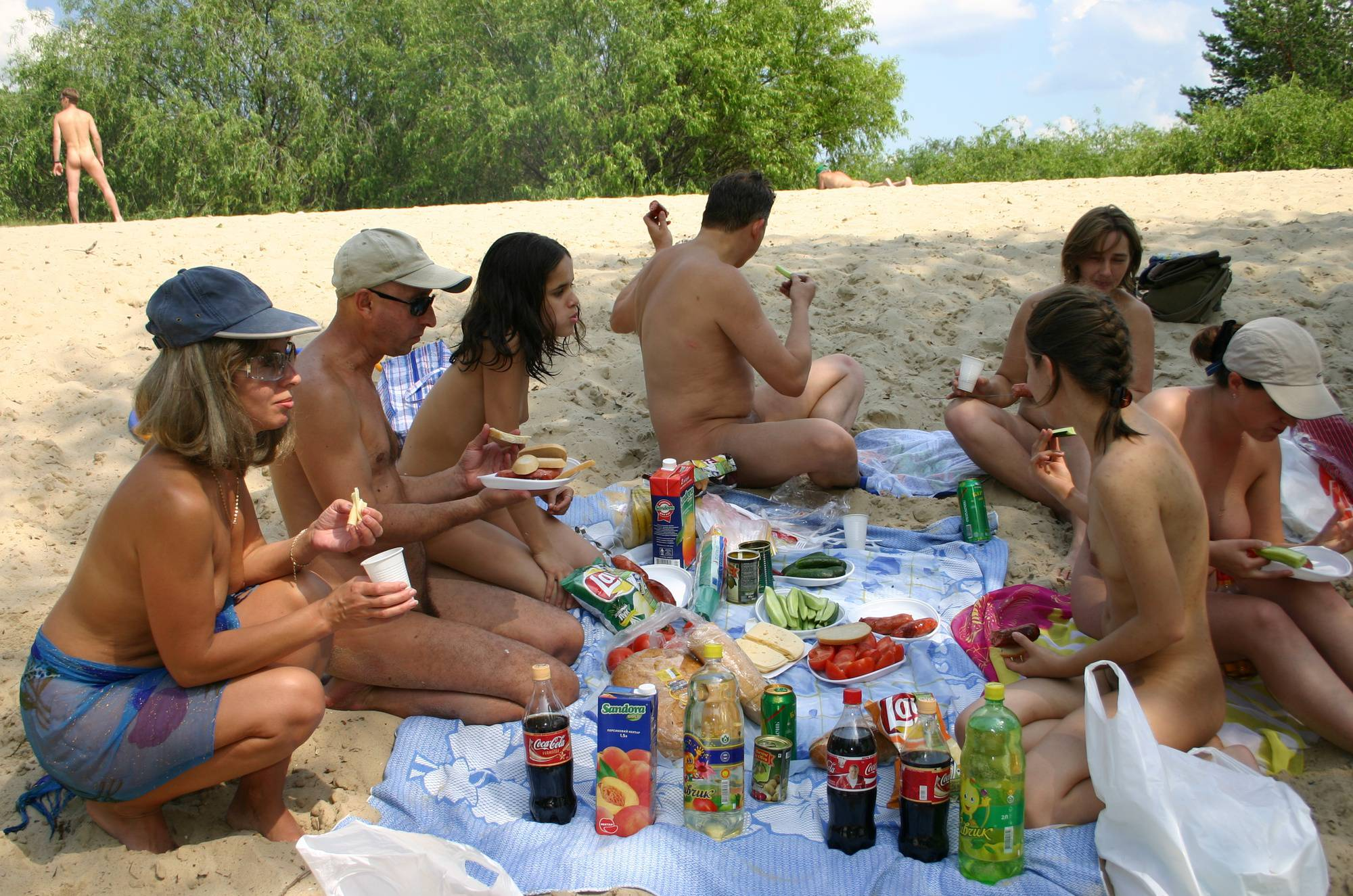 Pure Nudism Gallery Kiev Camping Fire Dining - 2