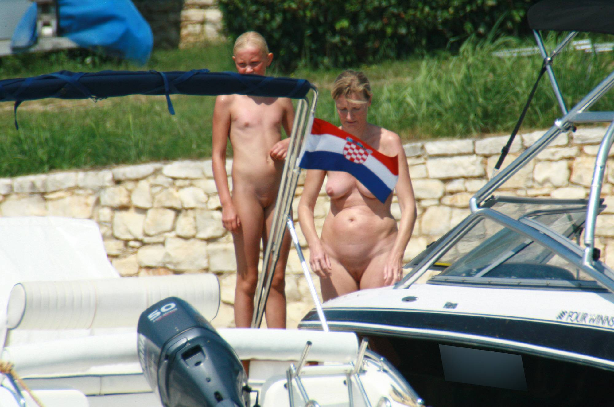 Pure Nudism Pics Mother and Daughters Boat - 1