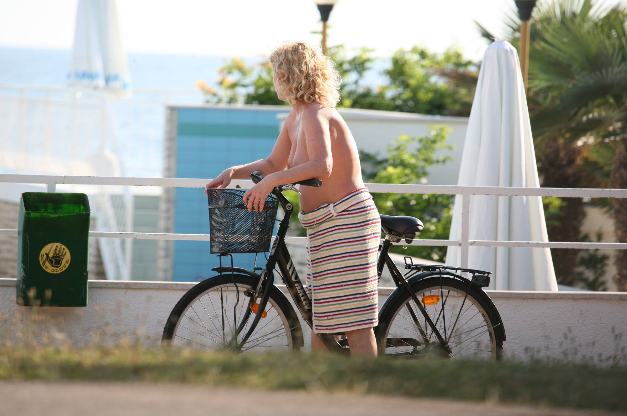 Purenudism Pics Nora FKK Outdoor Biking - 3