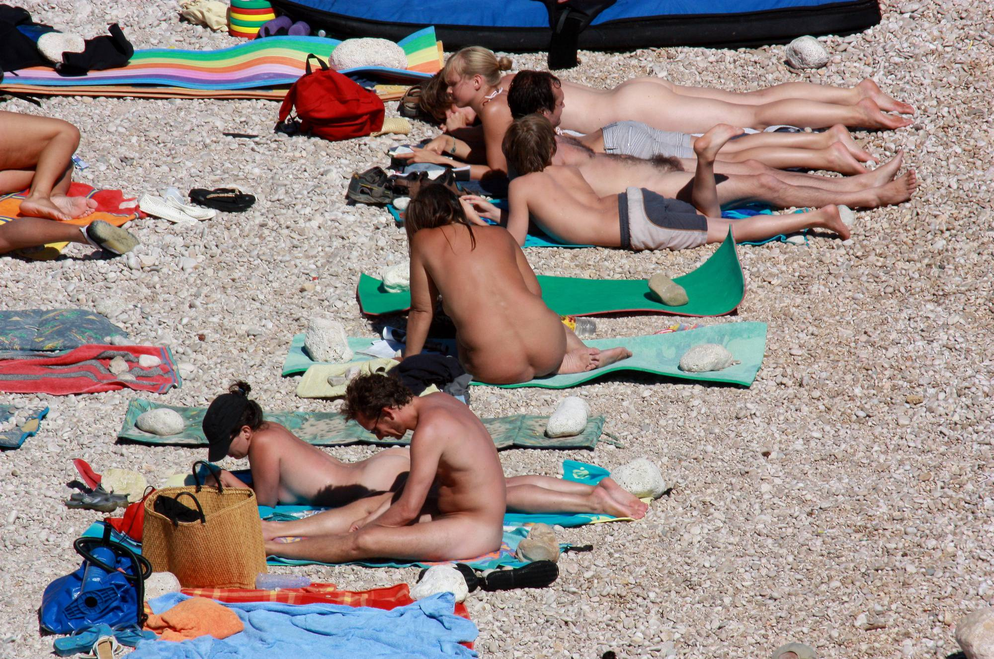 Nudist Family Beach Look - 2