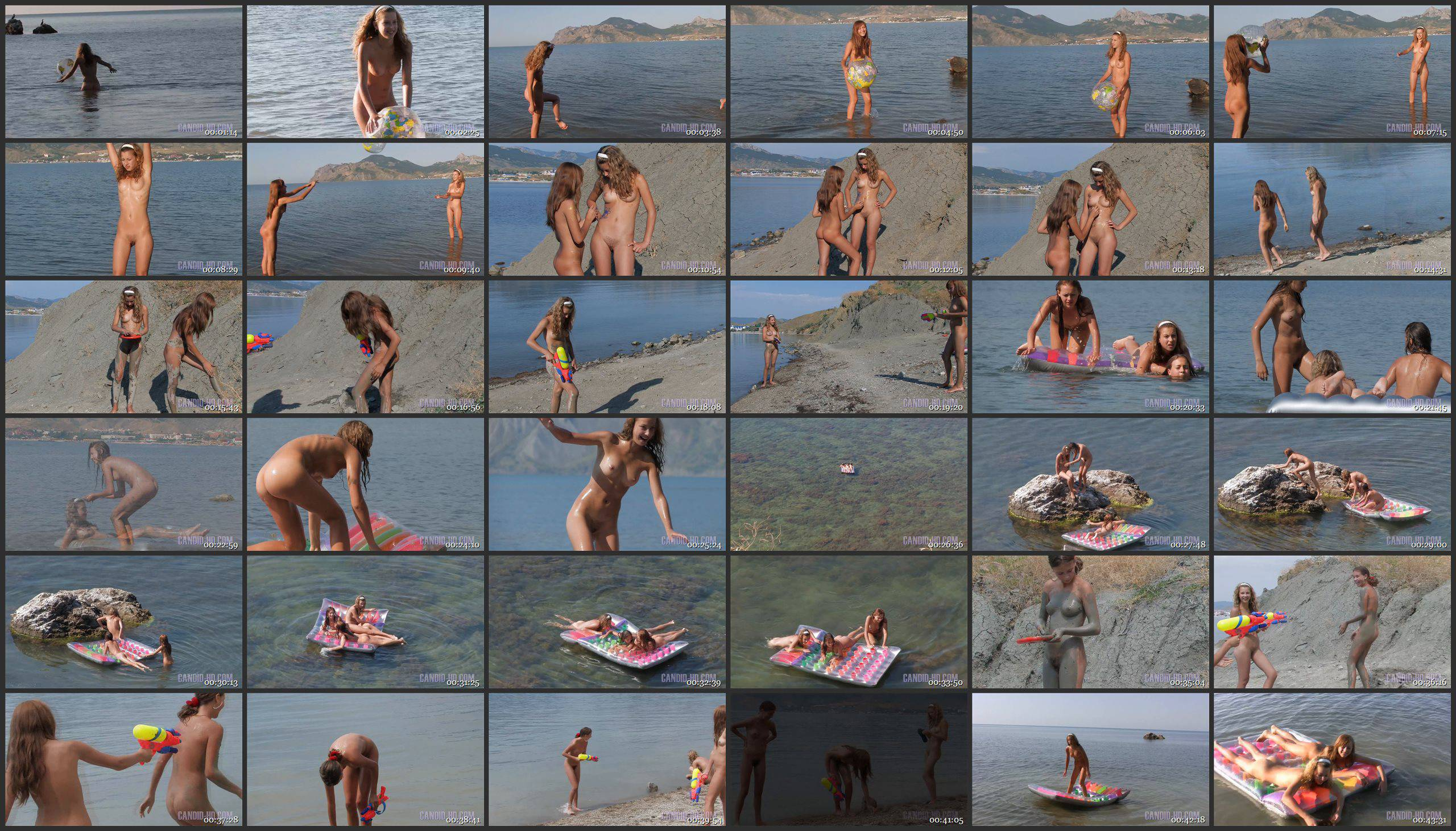 Candid-HD Nudist Girlfriends on Holiday 1 - Thumbnails