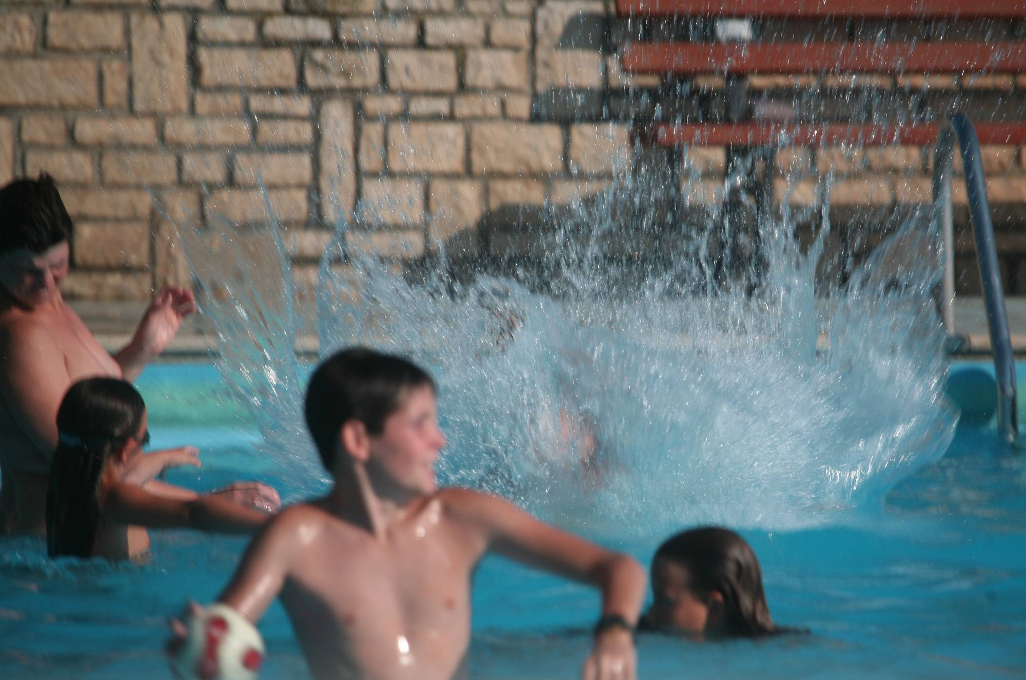 Purenudism Photos Nudist Pool Jumpers Two - 1