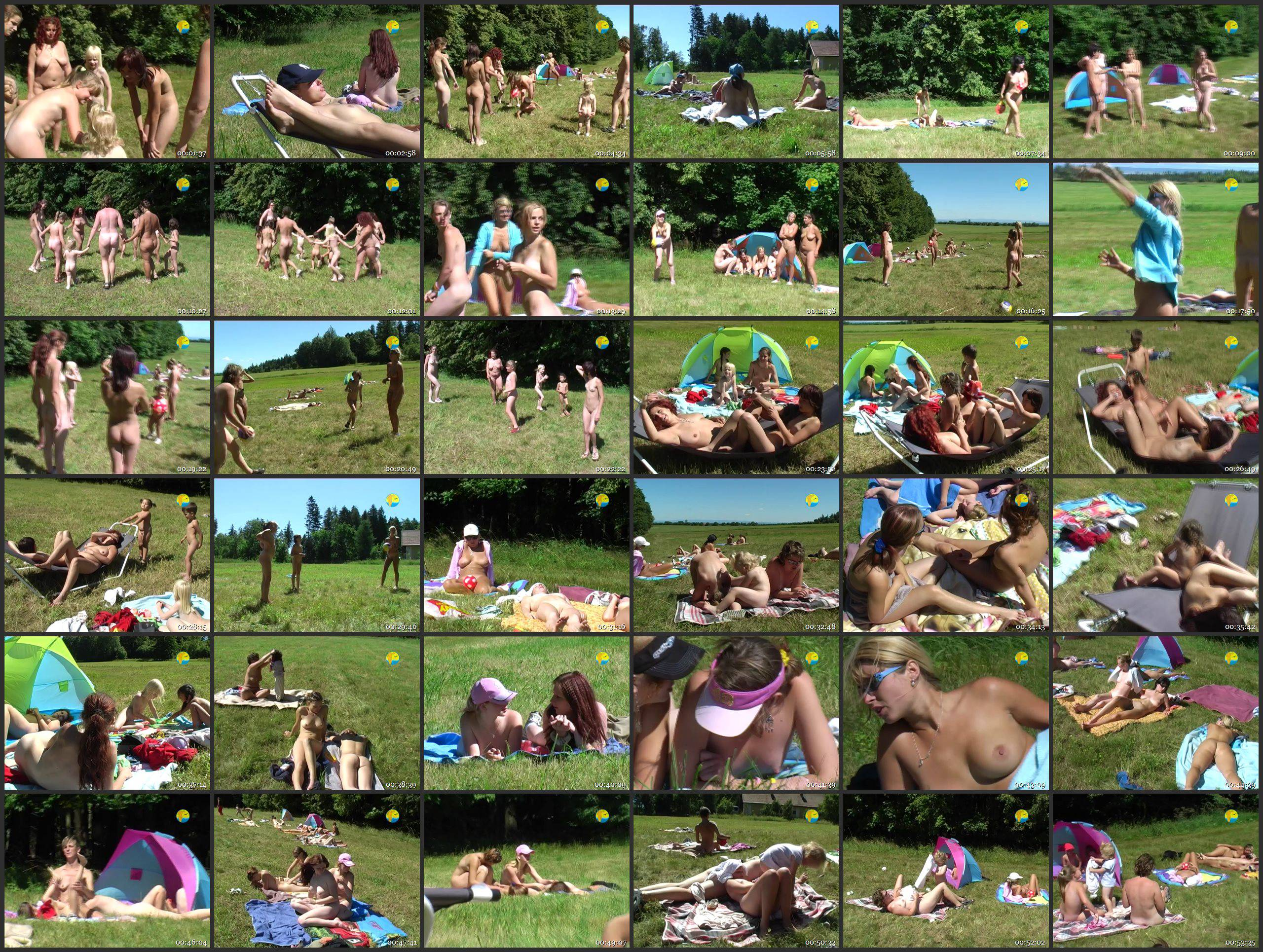 Naturist Freedom Videos On a Meadow by the Forest - Thumbnails