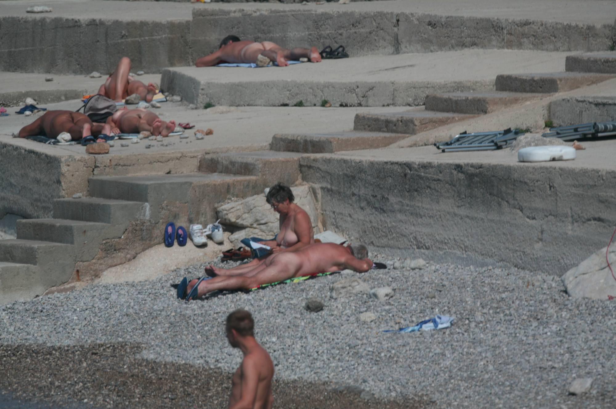 Pure Nudism Cove Pyramid Sun Bathers - 2