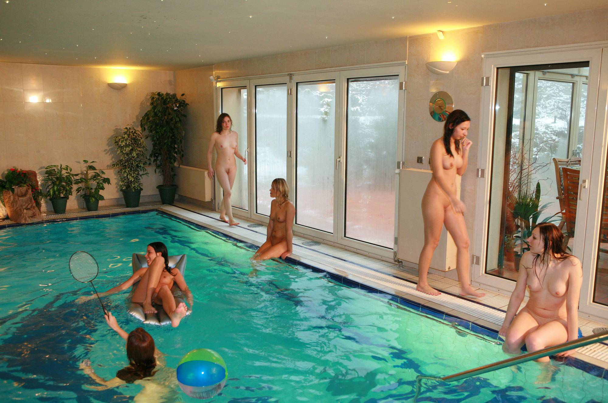 Pure Nudism Images Girls Pool Party Basin - 1