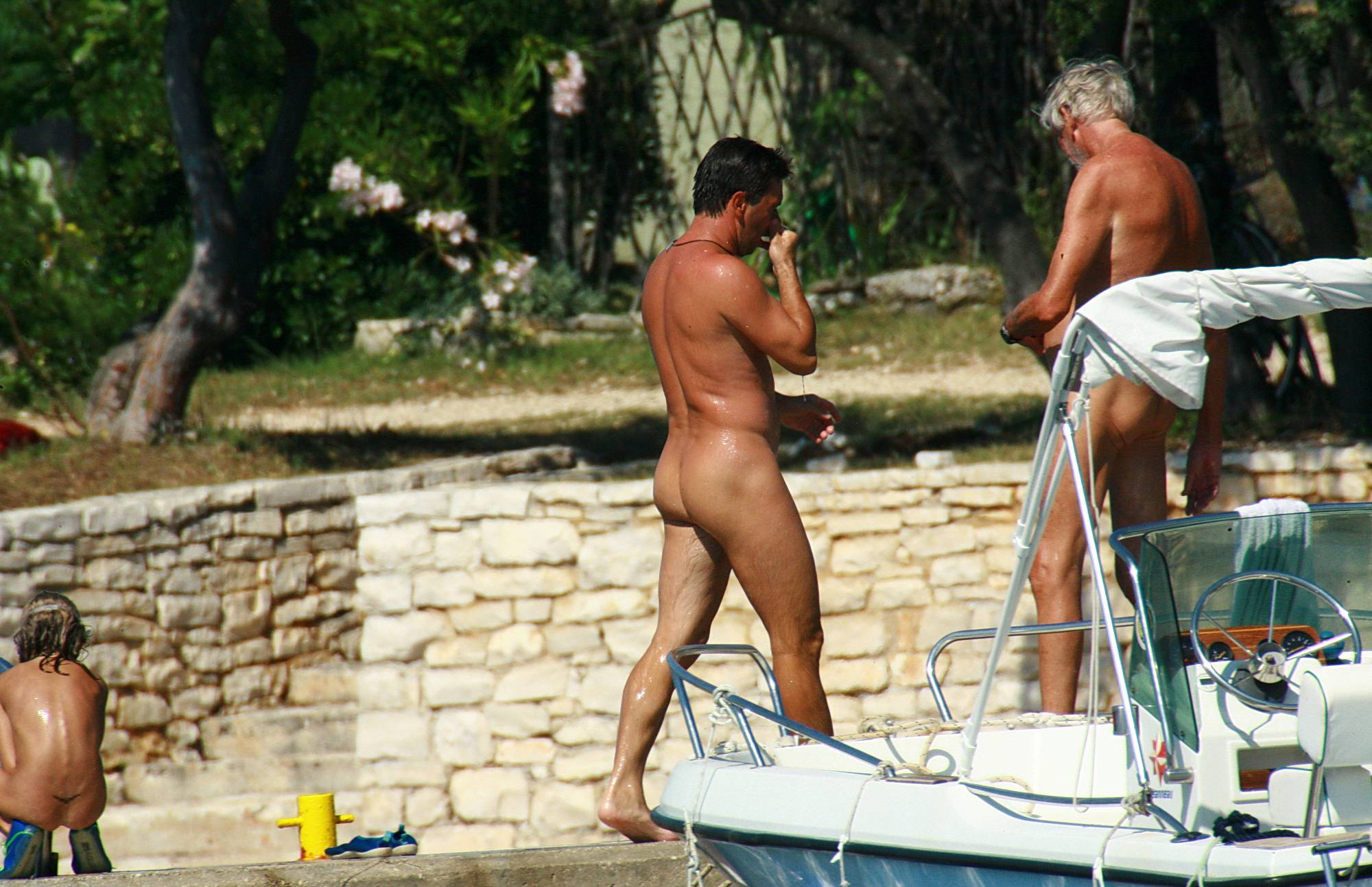 Pure Nudism Images Jumping Off Of The Pier - 2