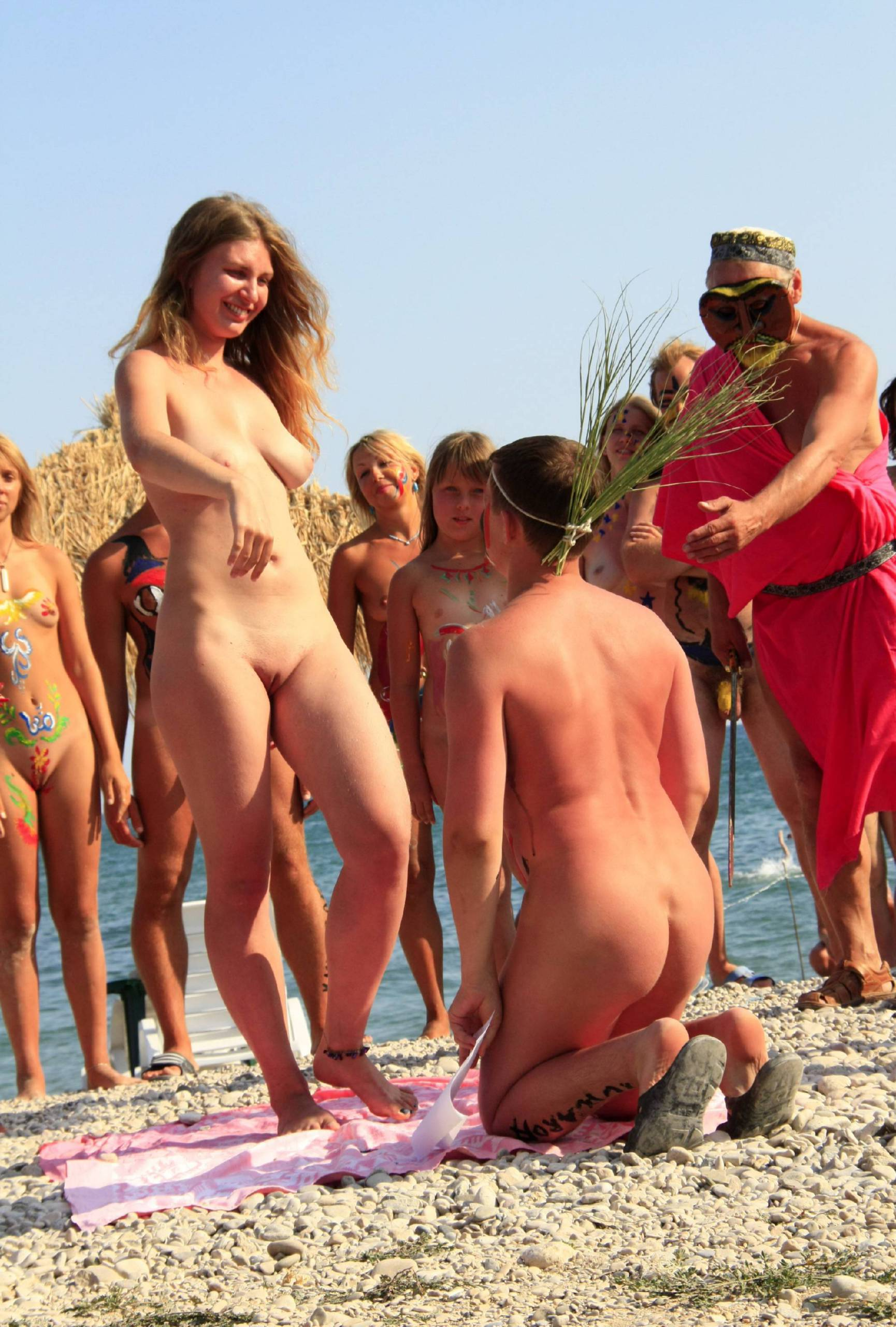 Pure Nudism Naturist Girls Wall Army - 1