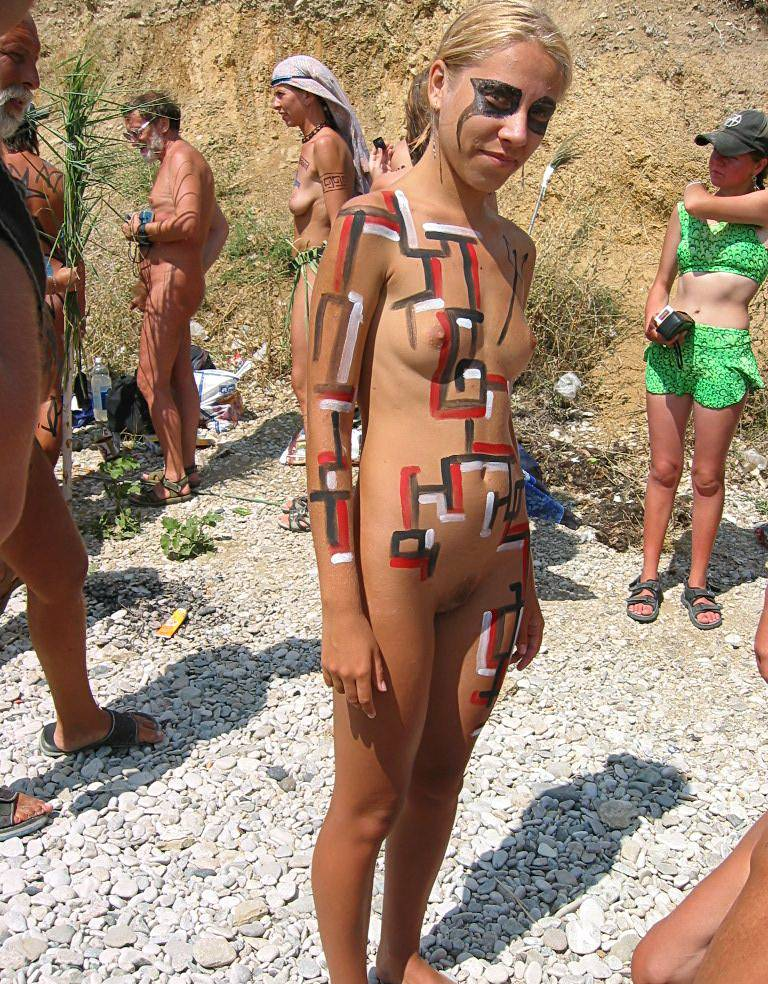 Pure Nudism Photos Magical Day Body Painting - 1