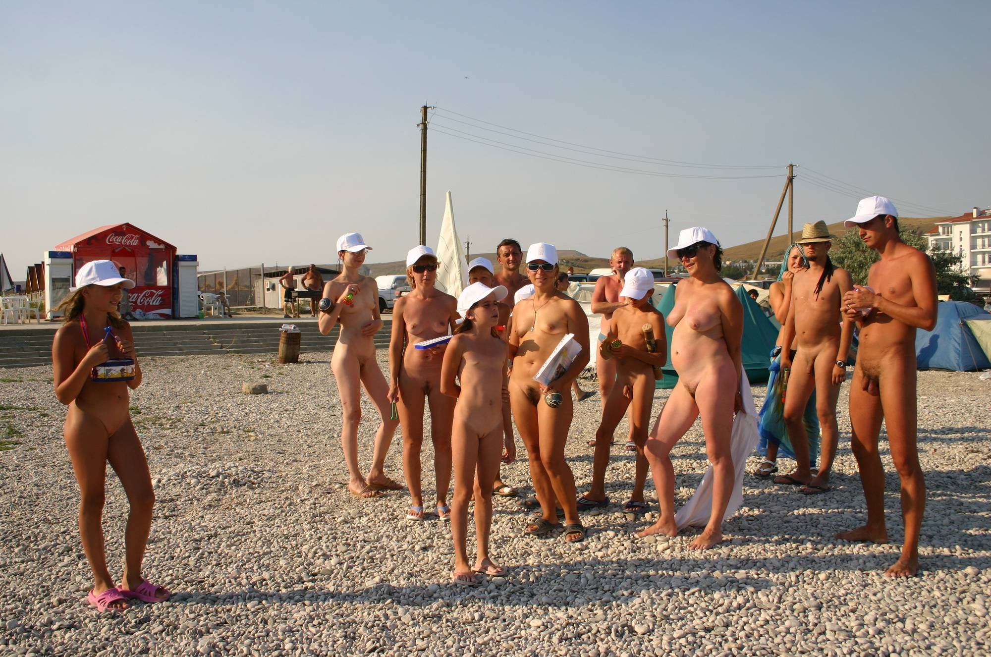 Pure Nudism Gallery Nudist Family Flag Parade - 2