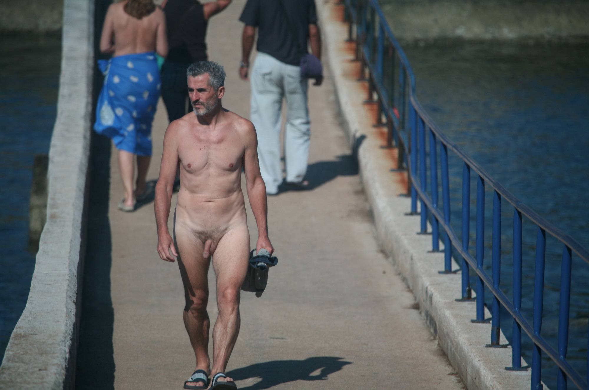 Pure Nudism Pics Pier FKK Bridge Crossing - 1