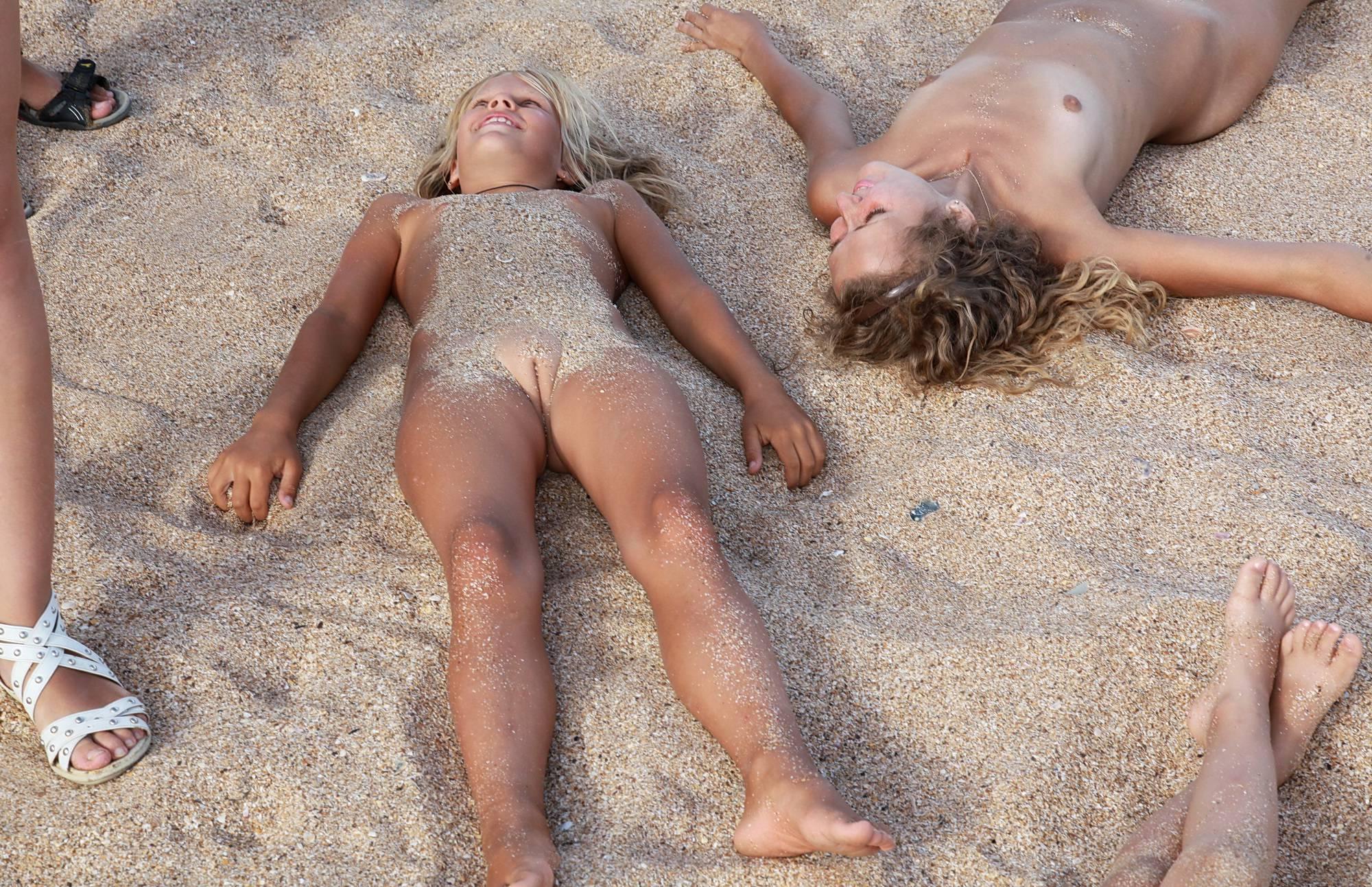 Pure Nudism Photos Sandy Beach On Our Backs - 2