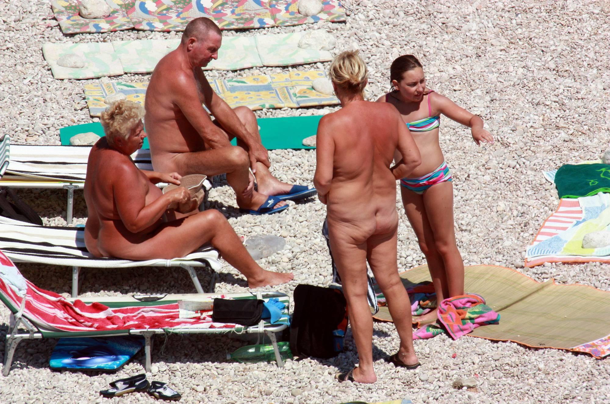 Naturist Blue Topless Girl - 2
