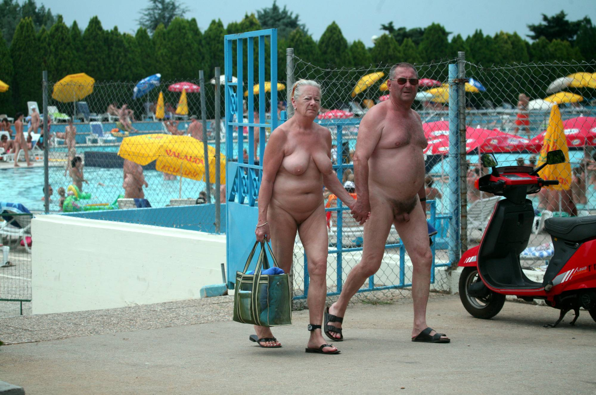 Pool-Side Naturist Scooter - 2