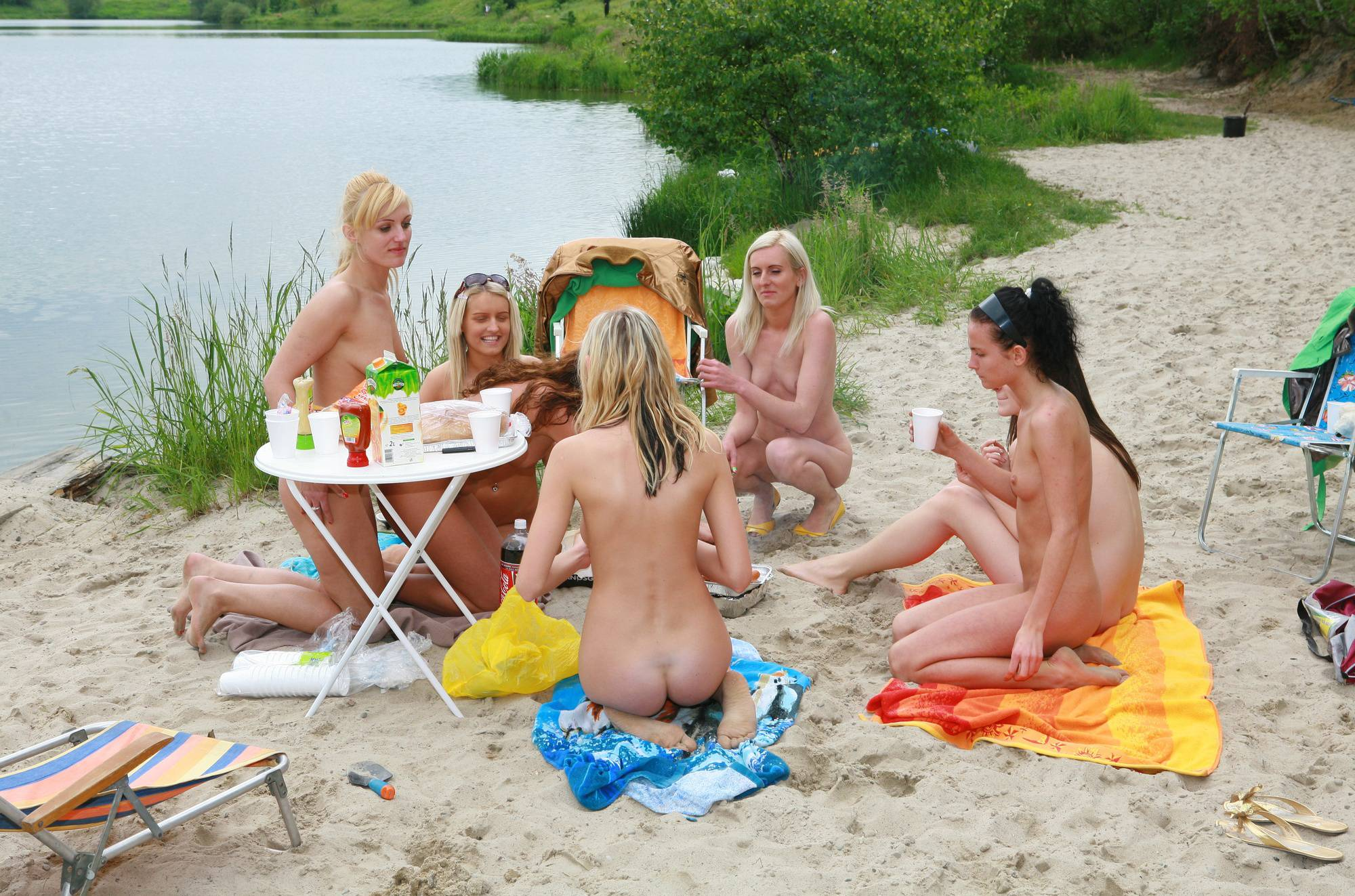 Pure Nudism Gallery Lakeside Picnic For All - 1