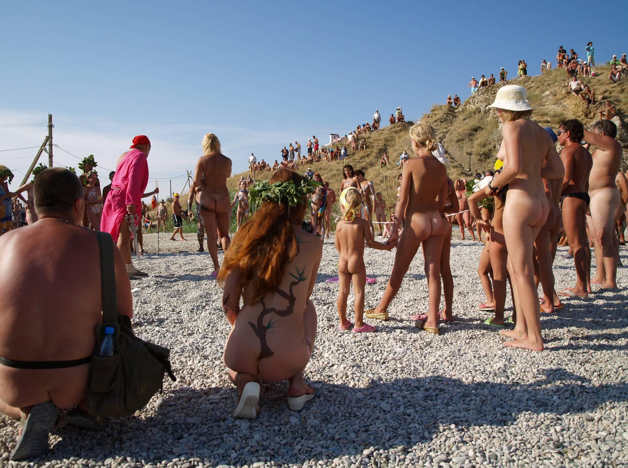 Nudist Beach Tall Soldiers - 1