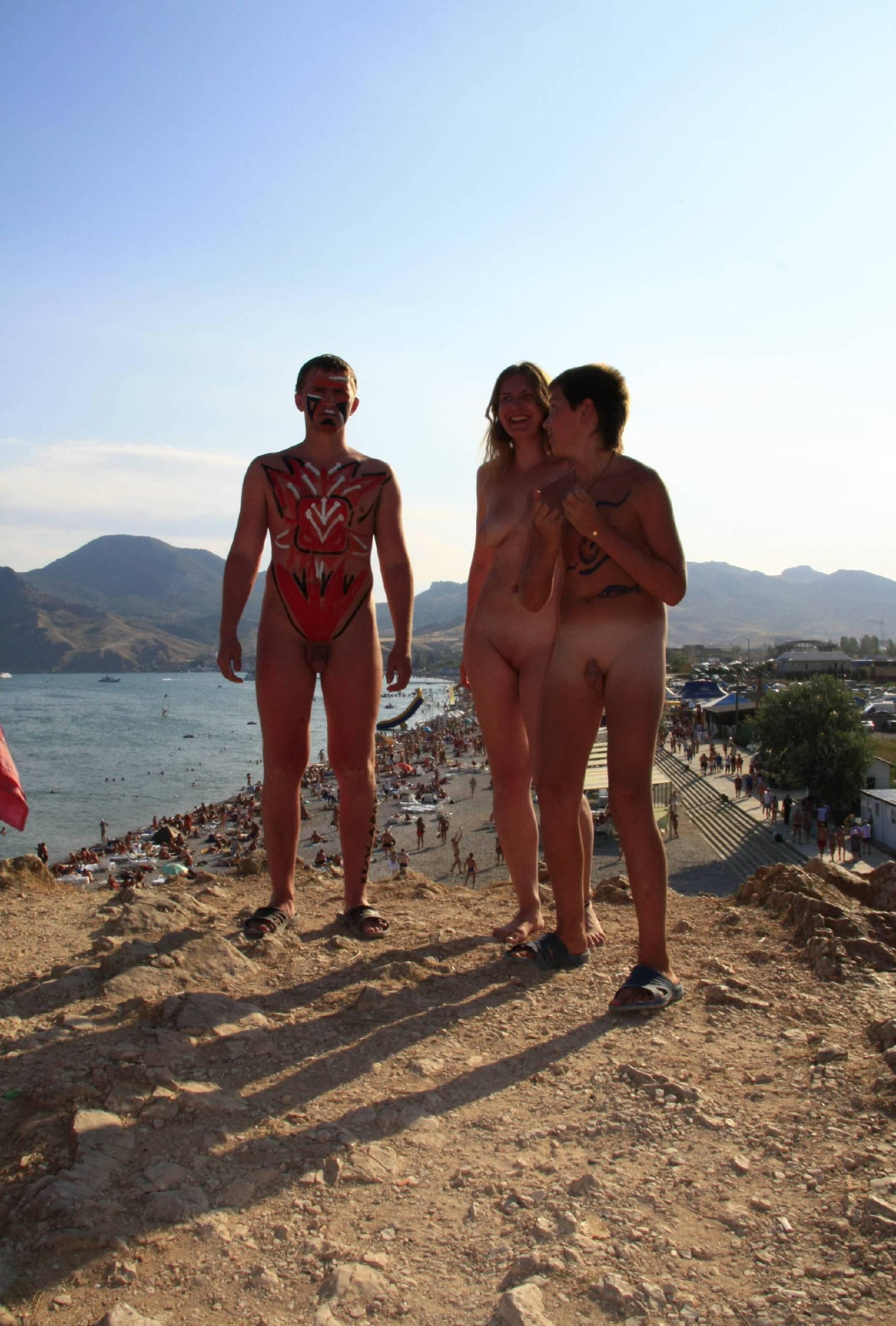 Pure Nudism Pics Blue Sky Group Line-Up - 3