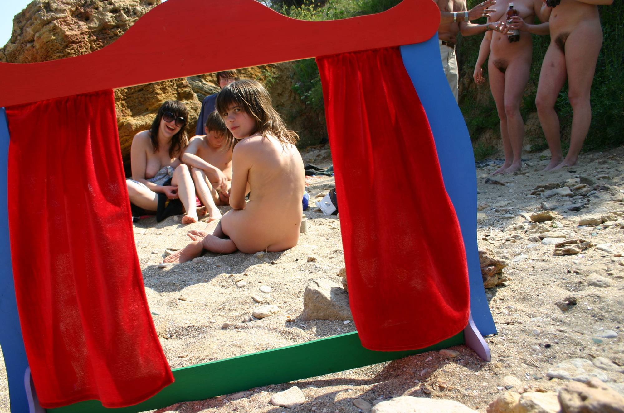 Pure Nudism Pics Nude Puppet Show Stand - 1
