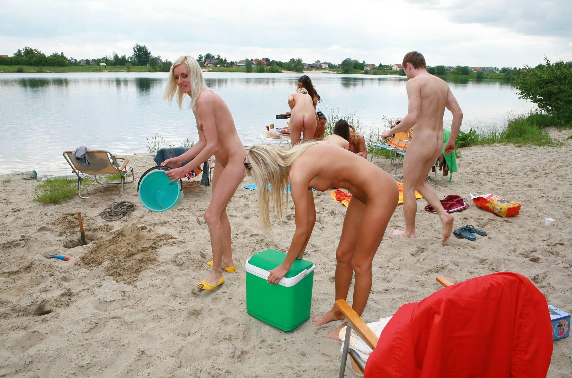 Pure Nudism Pics Lakeside Sand Bank Play - 2