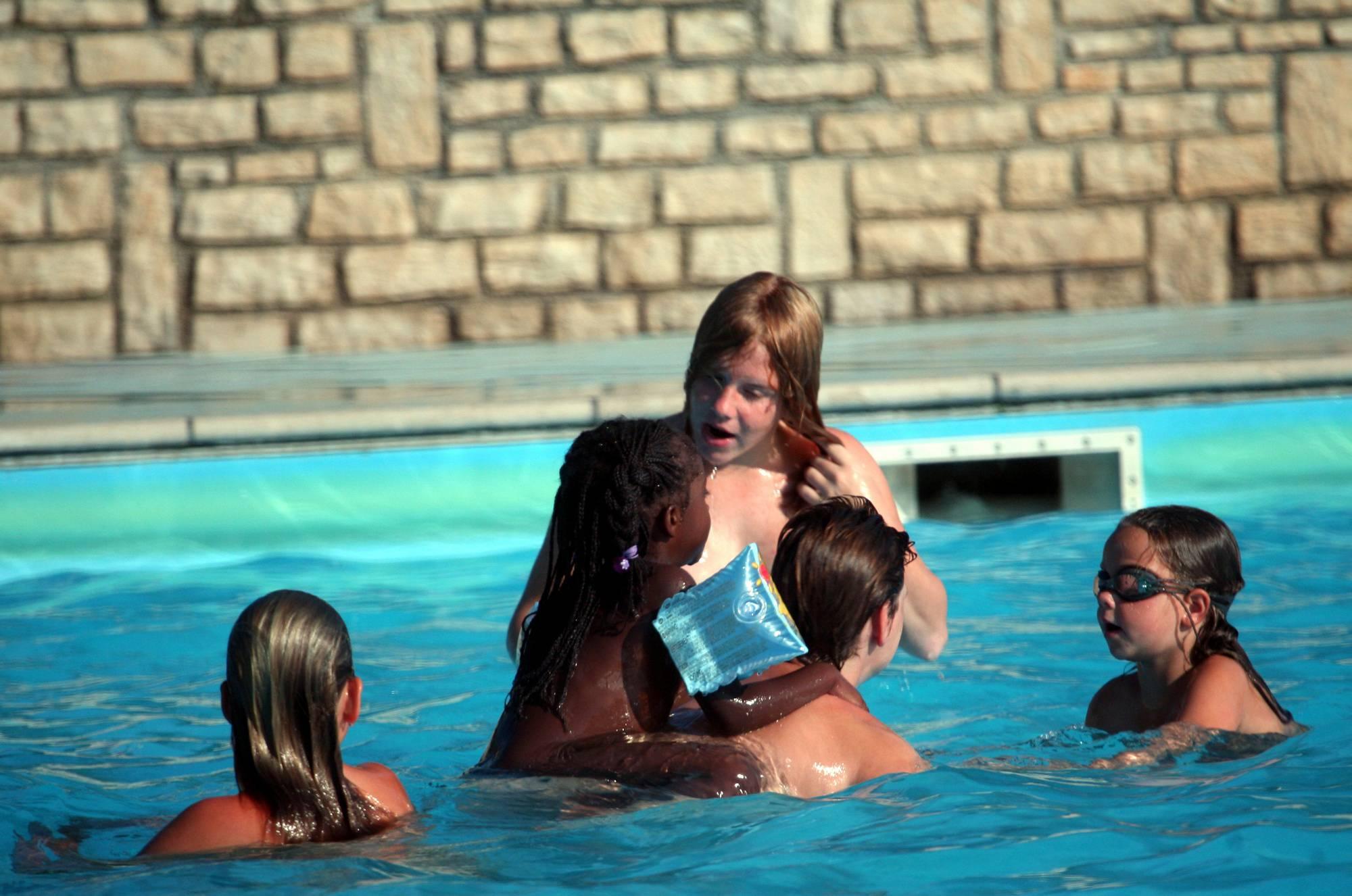 Nudist Pool In-Water Shots - 2