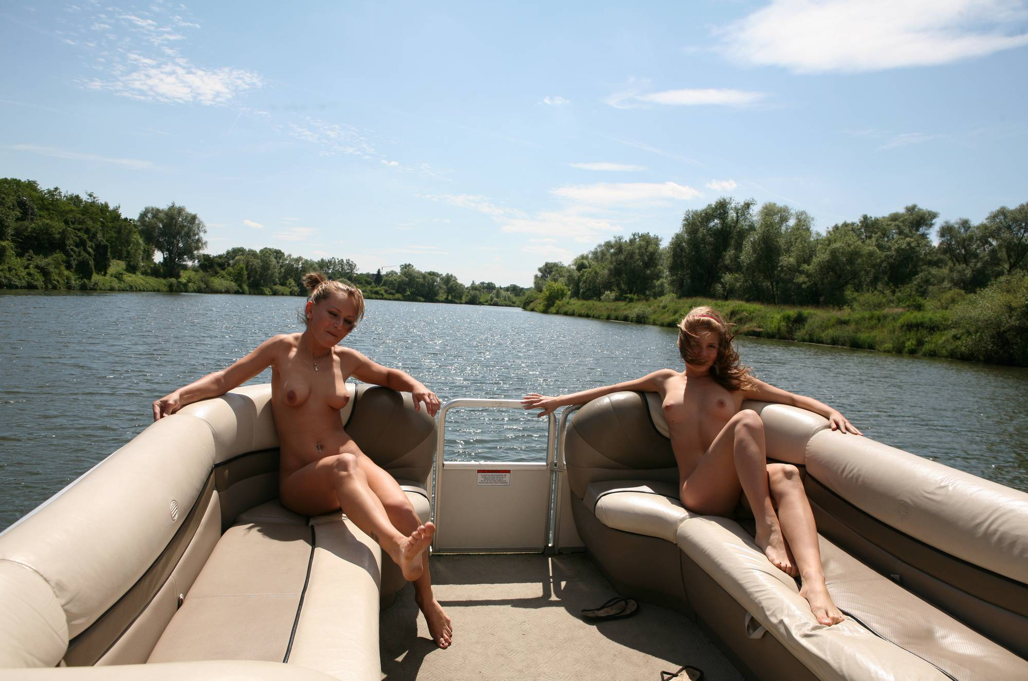 Pure Nudism Pics Relaxing On The Boat - 1
