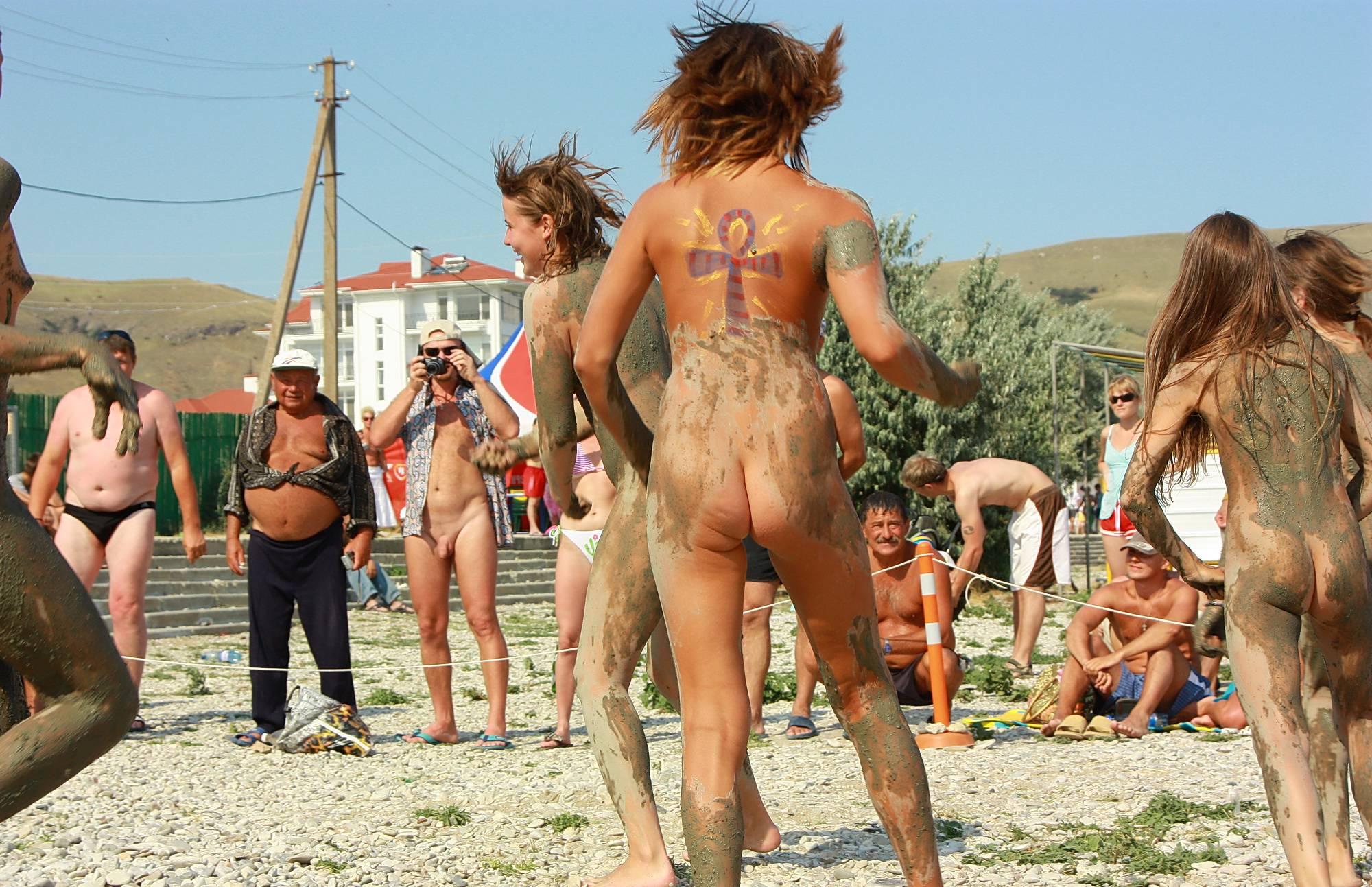 Purenudism Images Sandy Muddy Dance-Off - 2
