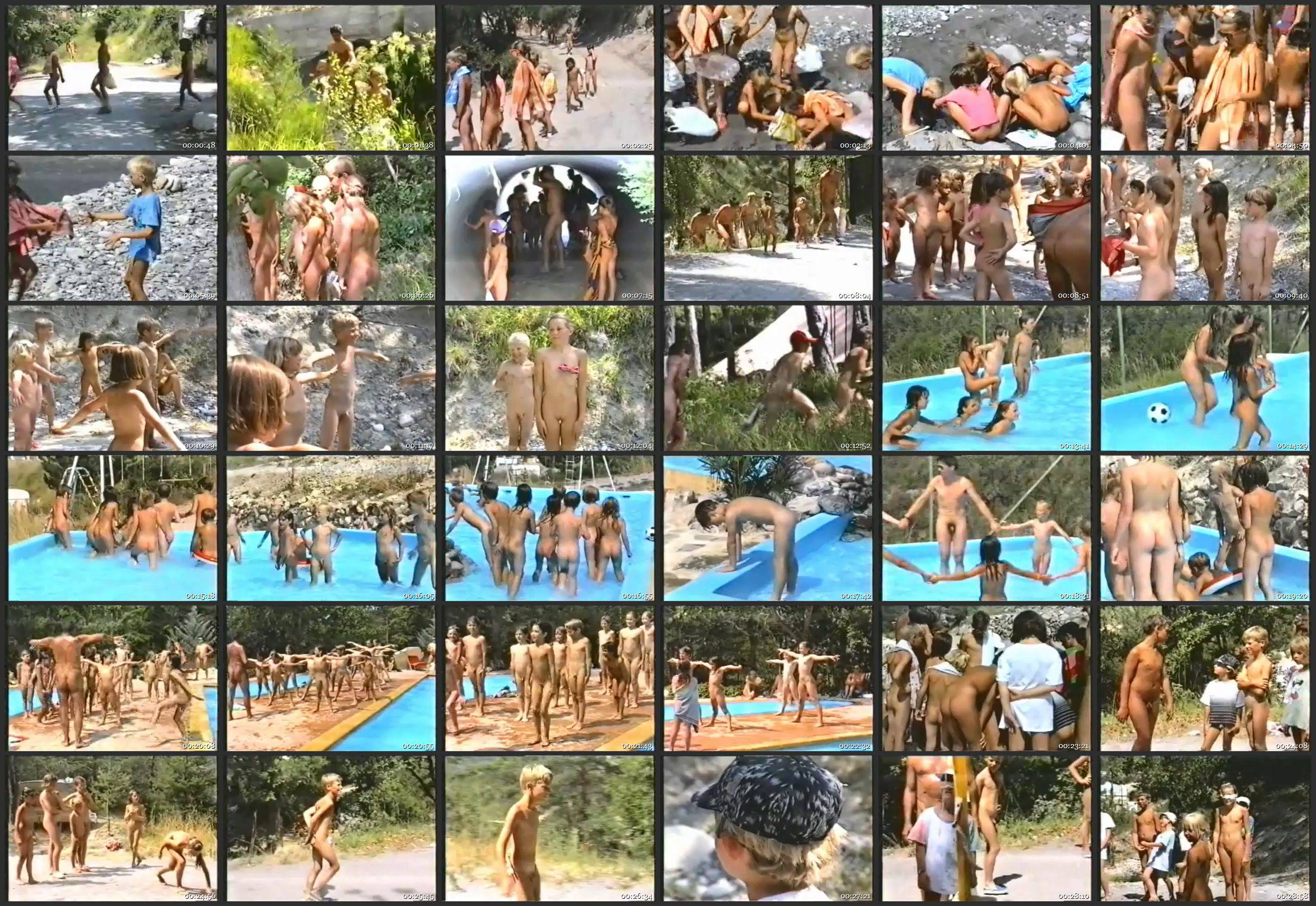 Nudist Movies Summer Fun and Games - Thumbnails