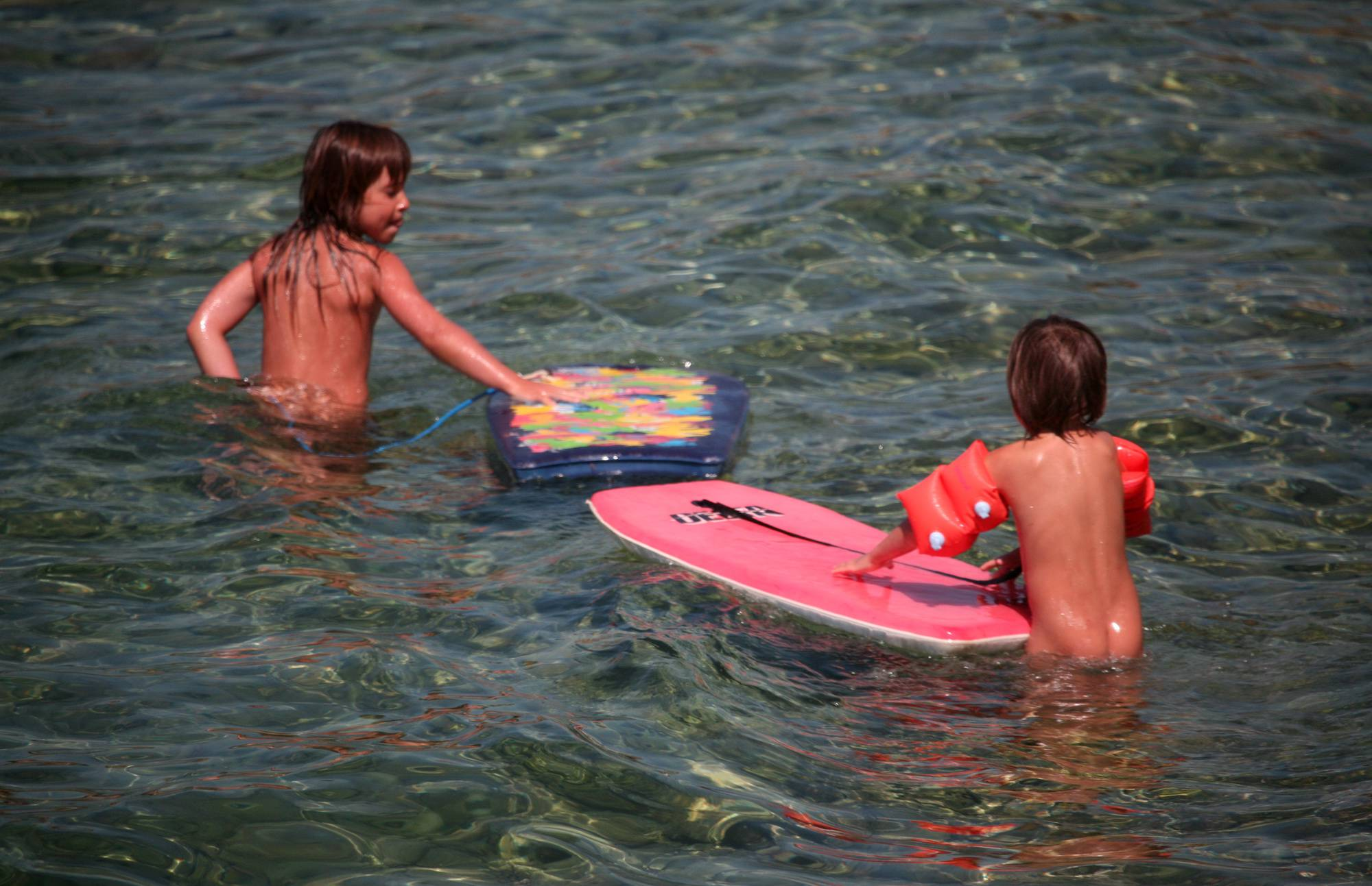 Pure Nudism Photos Two Floaters in the Beach - 2