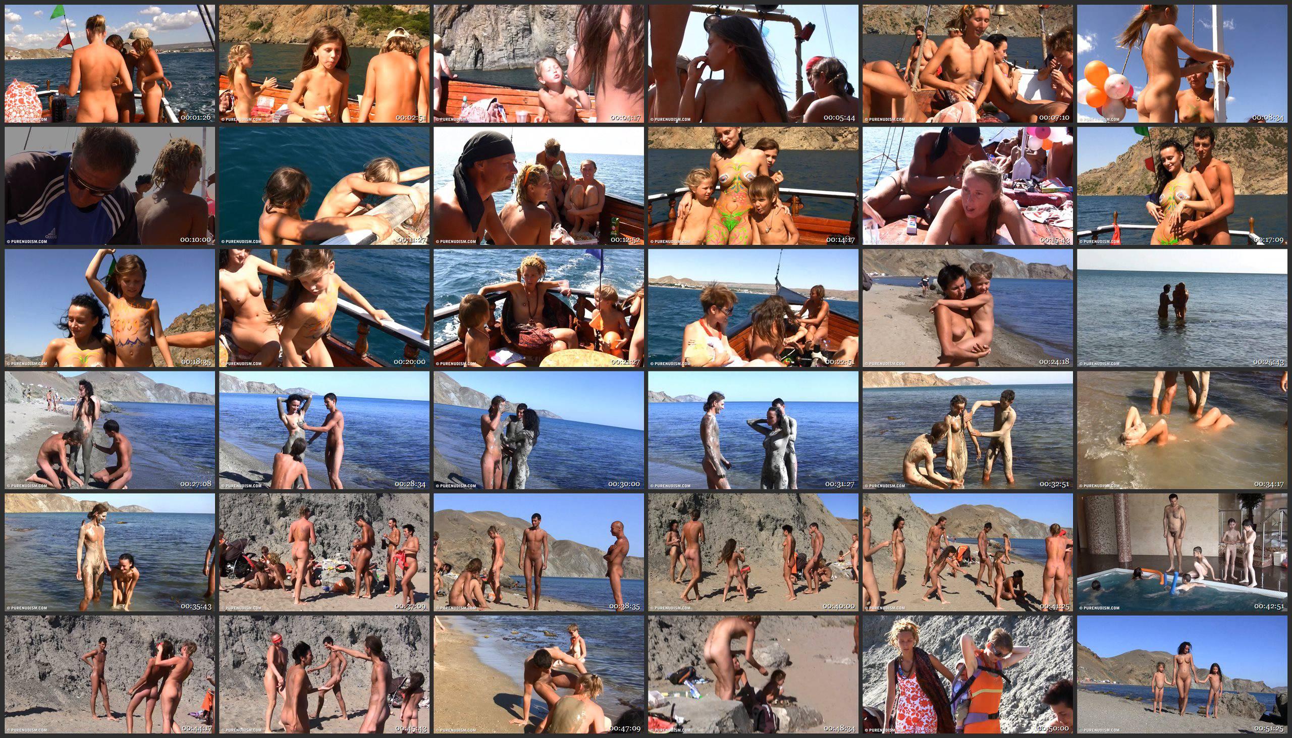 Pure Nudism Ukrainian Sea Boating - Thumbnails