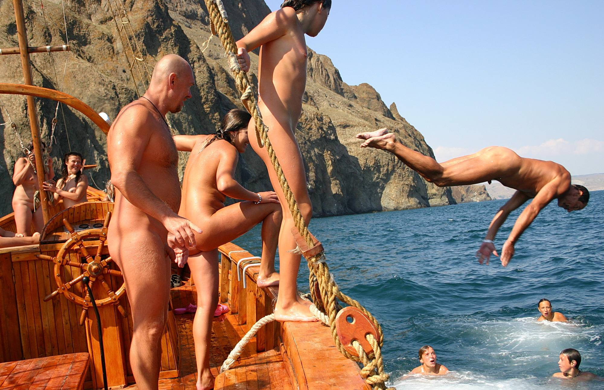 Pure Nudism Images Ukrainian Sea Boating Two - 1
