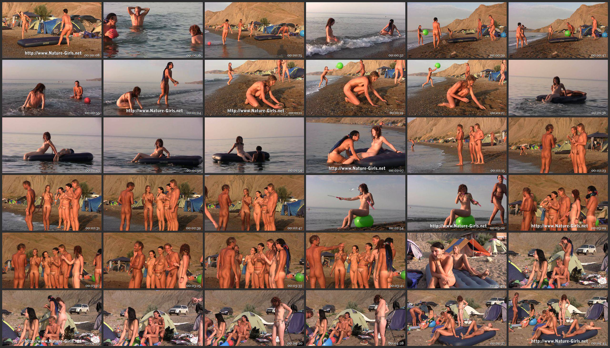 Naturist Videos Young Naturists on a Nudist Beach - Thumbnails