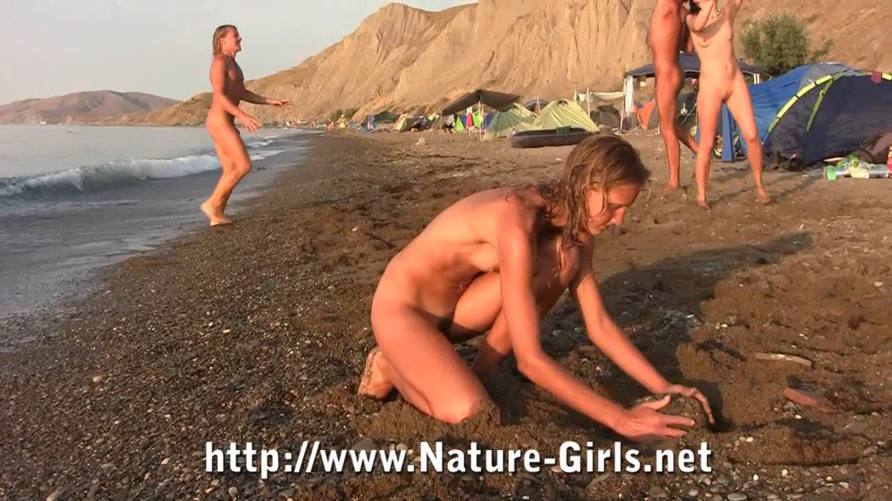 Young Naturists on a Nudist Beach - 3